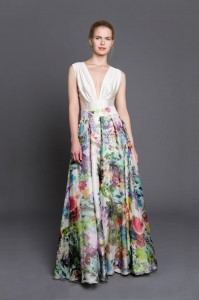 Maxi silk skirt with jungle pattern S122 (1)